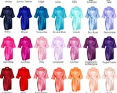 Silk Robes 30+ colors and variety of sizes, Silk Robes for Bridesmaid, Satin Robes, Bridesmaids Robes, Bridesmaid Robe, Bride Silk Robe