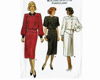 Vogue Dress Pattern Sizes 12 14 16 Bust 34 36 38 Uncut 80s Sewing Pattern 1980s Vogue 9406
