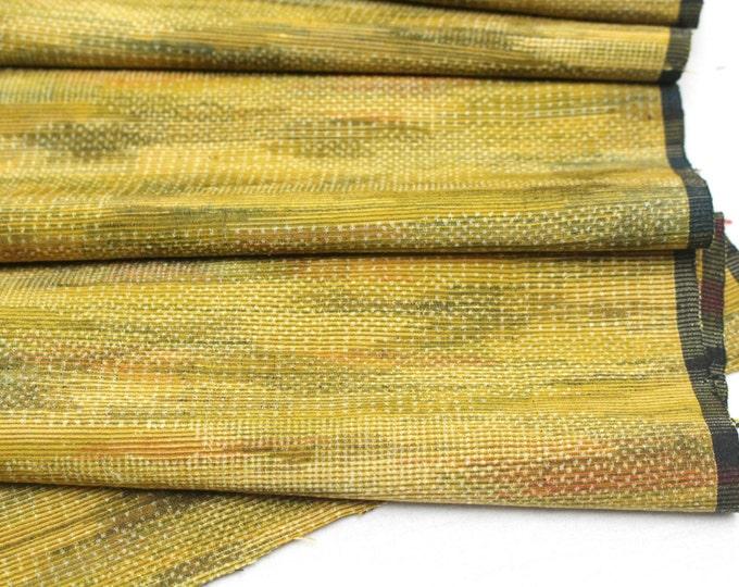 Vintage Japanese Silk Ikat. Artisan Woven Fabric. Kimono Araihari Silk (Ref: 1554A)