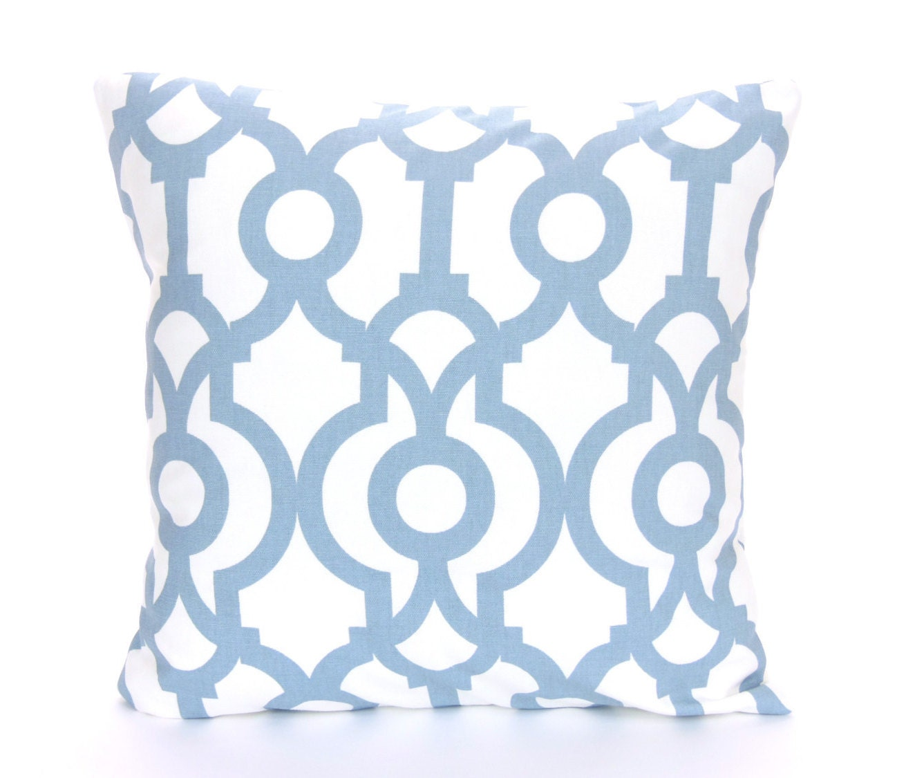 Slate Blue White Throw Pillow COVER ALL SIZES One or More