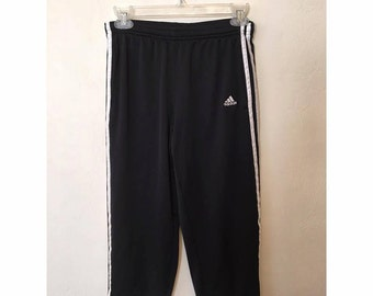90s Black Adidas Stripe Capris