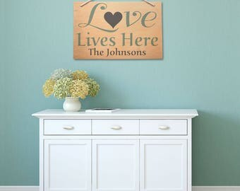 Personalized Heart and Love Quote Stencil Set – Love Lives Here