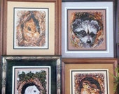 Cross My Heart PEEK A BOO ANIMALS (Multiple Designs)  - Counted Cross Stitch Pattern Chart Booklet