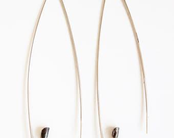 Silver pin earrings, Minimal silver earrings, Contemporary earrings, Light earrings, Minimal silver jewelry, Minimal earrings, Pin earrings