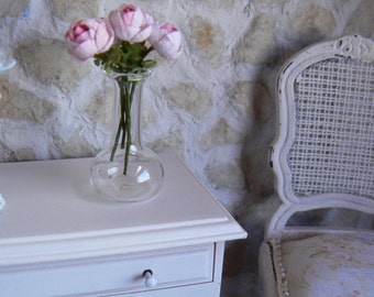 Five pink roses for doll house - Miniatures - Scale 1/12 th
