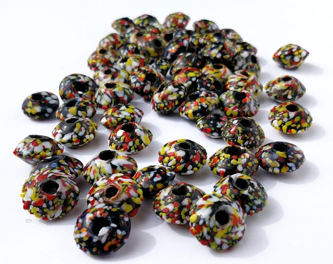 Vintage Multi Colored Glass Trade Beads from Ghana - Lot of 58 Beads