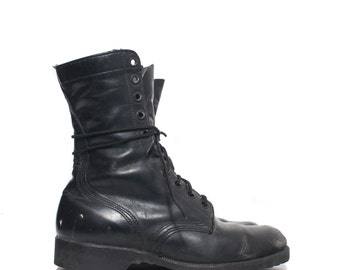 8 W | 1978 Standard Issue Military Boots Black Combat Boots