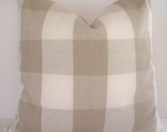 Tan Check Pillow Cover Ballard Designs Pillow Taupe Buffalo Check Pillow Cover Both Sides