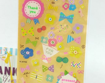Colorful Deco Sticker (1 sheet)