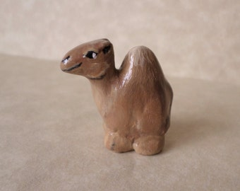 Miniature camel figurine, camel totem, small animal sculpture, animal totem