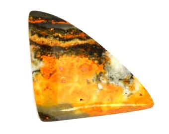 Bumble Bee Jasper Cabochon Stone (30mm x 21mm x 7mm) - Triangle Cabochon - Bumble Bee Cabochon