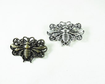 Bee Brooch, Bronze of Silver, Choice Womens Gift  Handmade