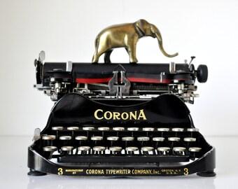 Vintage 1917 Corona 3 Folding Typewriter
