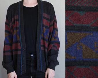 slouchy wool cardigan - 2X