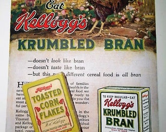 Rare 1920s Kellogg's Corn Flakes Sample Box Ephemera