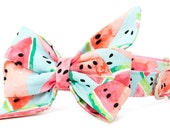 Crew LaLa™ Watercolor Watermelon Belle Bow Collar