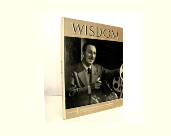 articles on Walt Disney in Wisdom Magazine of Knowledge for Lifetime Learning & Education, Animated Cartoons, King Arthur 1959 Vintage Book