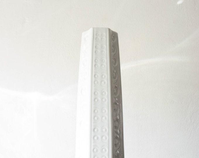 Mid Century Glazed White Porcelain Vase // Schumann Arzberg West Germany