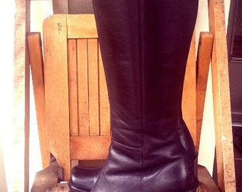 90s KID   ///    Leather Chunky Platform Boots