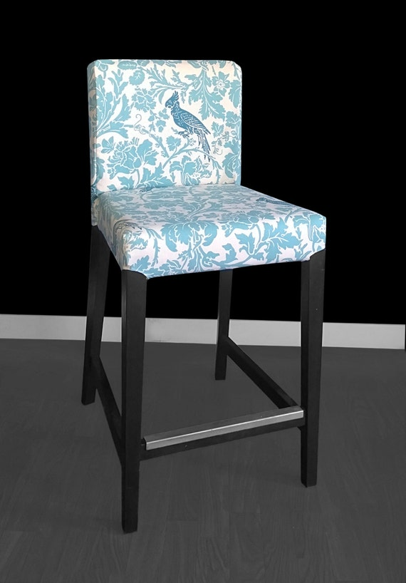 Cockatoo Ikea Bar Stool Cover Bird Print Henriksdal Cover