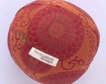 Throw Pillow- Red Orange Floral Ball Small- Designer Pillow- Lumbar Pillow- Great for Dorm room decorating by beckyzimmdesign