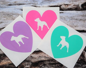 Pit Bull Heart Decal