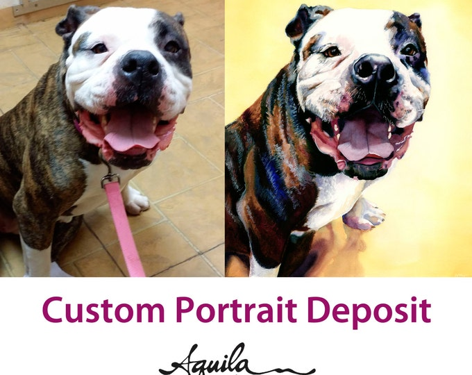 Featured listing image: Deposit for Custom Watercolor Portrait