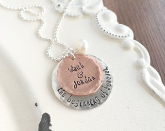 Engagement . Personalized Engagement Necklace . Bridal Shower . Wedding . Personalized Jewelry . Personalized Bride . Shay Designs