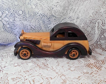 Vintage HandMade Wooden Car 1920's to 1930's Beautiful Details