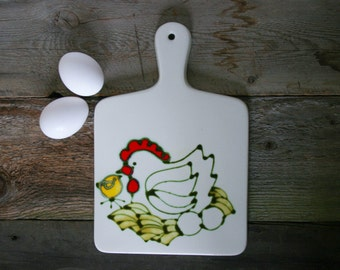 Ardencraft Hand Painted Trivet, Nesting Hen and Baby Chick