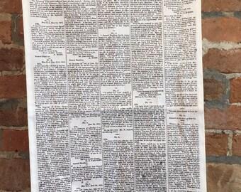 Hamilton New York Evening Post News Towel, Kitchen Tea Towel