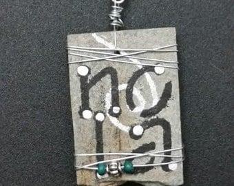 New Orleans Louisiana Slate Necklace Pendant NOLA