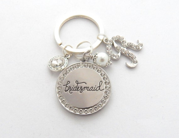 Keychain For Wedding Gift : Gift, Gifts for Bridesmaids, Bridesmaid Keychain, WEDDING KEYCHAIN ...