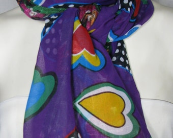 Scarf Long Scarf Purple Scarf For Her Valentine Gift Fashion Accessories Gift Ideas Birthday Gift For Her Fashion Scarf