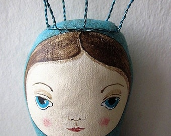 Mermaid, OOAK mermaid, Whimsical, folkart, folk art, art doll, doll, siren