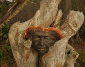 A Woman Knows, Wisdom of the Elder Mushroom, Sculpture by ShapingSpirit