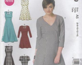Fit & Flare Dress Pattern McCalls 7189 Sizes 6 - 14 Uncut