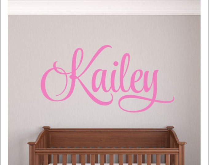 Girls Name Decal Wall Decal Nursery Vinyl Decal Girls Bedroom Decor Fancy Name Decal Wall Decor Vinyl Name Personalized Name Decor Baby Girl