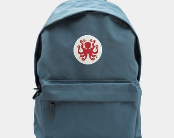 Octopus Blue Backpack Rucksack by Art Disco