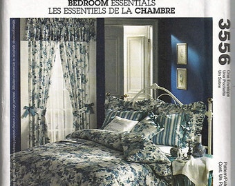 Bedroom Essentials / Original McCall's Home Decorating Uncut Sewing Pattern 3556
