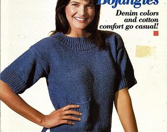 Reynolds Bojangles 4 Sweaters to Knit Pattern Book Volume 304