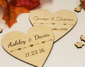 4 inch Personalized Heart, Heart, Wedding, Anniversary, Couple, Bride & Groom, Engagement, Decoration, Tag, Gift, Love, Girl Friend, Fiance