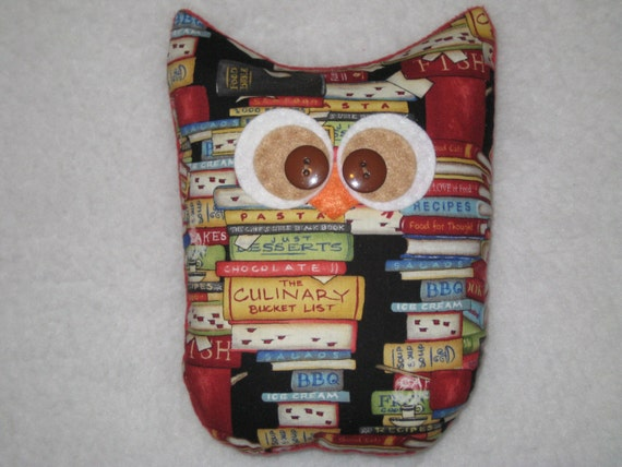 Cookbook owl kitchen decor chef gift owl decor ready Owl kitchen accessories