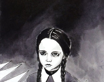 Wednesday Addams Poster Print