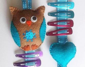 Hair clip holder, hair clip organiser, owl hair clip holder, bow holder, owl gift