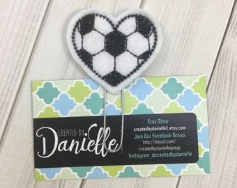 Soccer Heart Bookmark, Soccer Gifts, Soccer Mom Gifts, Soccer Team Gift, Soccer Player Gift, Soccer Coach Gift, Soccer Heart Planner Clip