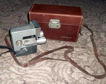 Vintage WOLLENSAK Movie Camera, 16mm, Triple Lens, ca1950