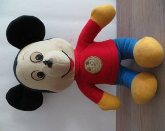 Vintage 70s Mickey Mouse Club stuffed animal plush toy, Knickerbocker Toy Company