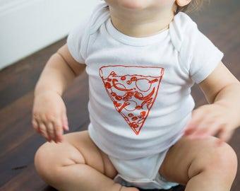 Pizza Baby Onesie, Hipster Baby Onesie, Baby Bodysuit
