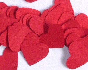 Confetti | Table Scatter | Red Hearts | Valentines Day | Romantic | Wedding | 100 pieces | One inch